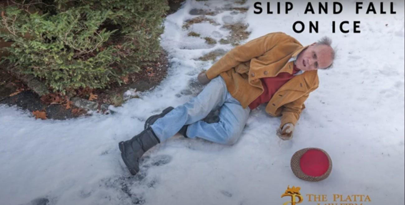 Slip on ice video