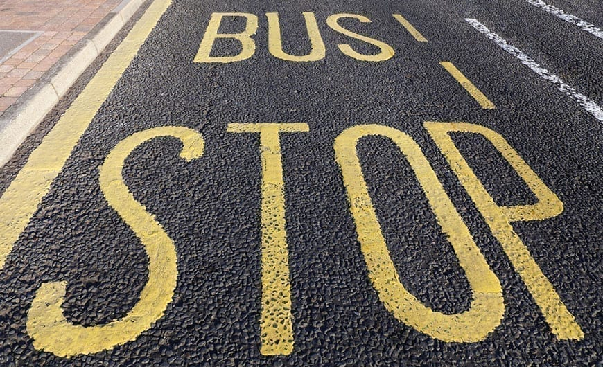 Bus Stop Accident